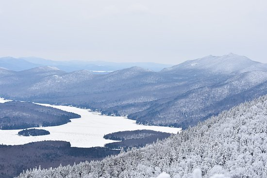 Wilmington, NY: View From the Top Of Frozen Lake Placid