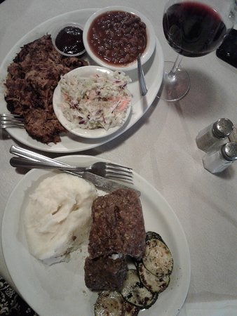 Chloride, AZ: Pulled Pork and Beans. Meatloaf and Mashed Potatoes.