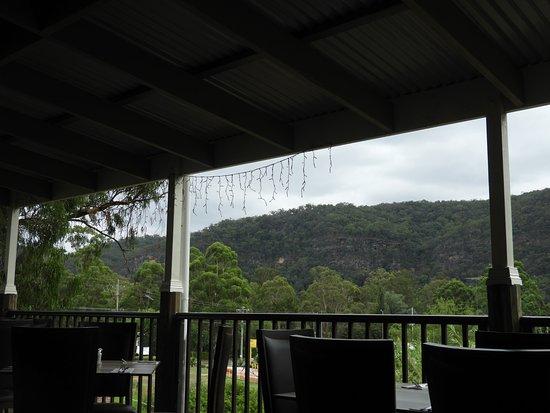 Wisemans Ferry, Australia: On the balcony