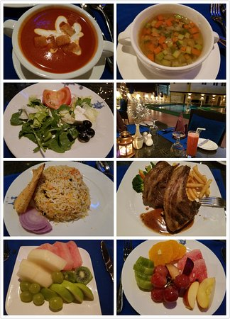 Ruwi, Oman: Nice dining area with nice food