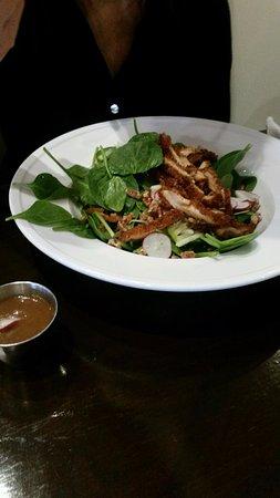 Madison, GA: Pecan crusted chicken salad.