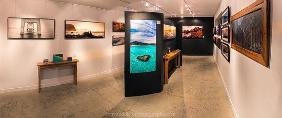 Kilcunda, Australia: Sample of some of the 100 photographic artworks on offer at the gallery.