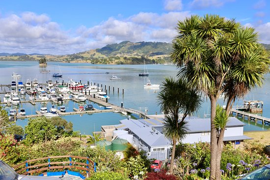 Whangaroa Lodge Motel: View from the balcony outside our room