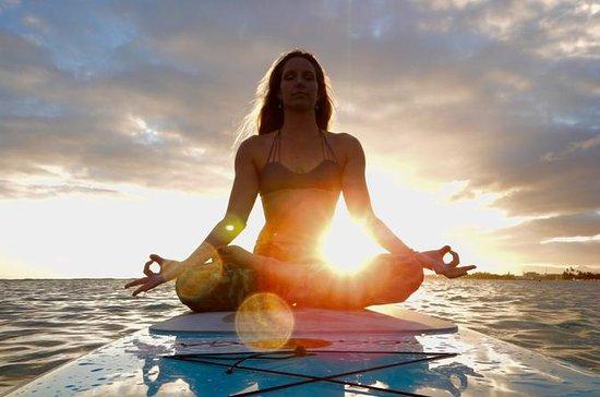 Cours de yoga sur une planche à...