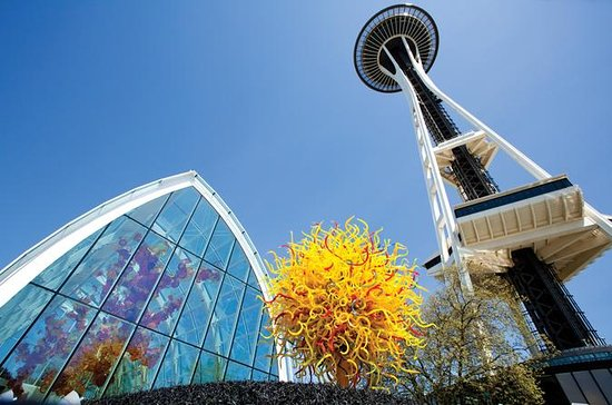 Space Needle og Chihuly Have og Glas...