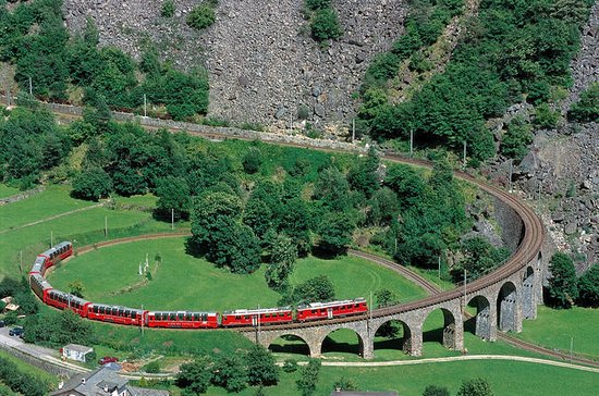 Bernina Express Scenic Train Journey...