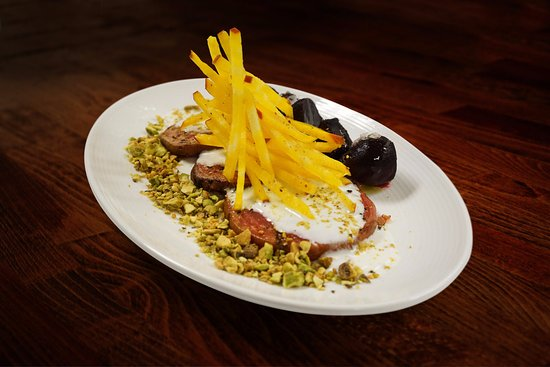 Fraser, CO: BEETS red | chiogga | gold | goat yogurt | pistachios