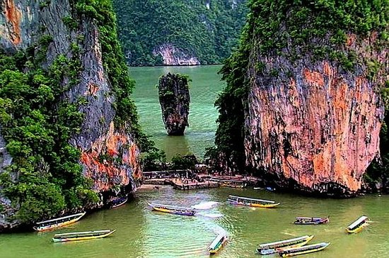 Canoeing at Khao Phing Kan from