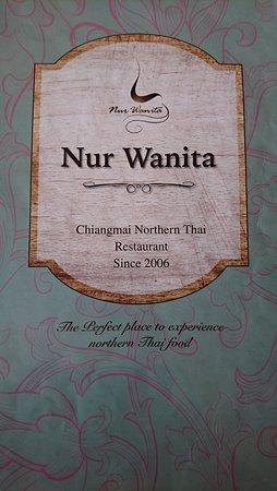 Nur Wanita Restaurant: Menu cover
