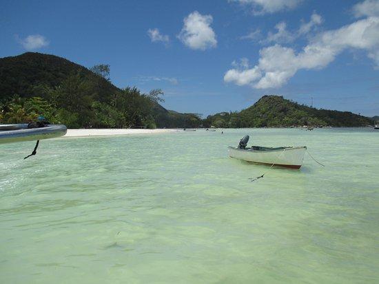 Praslin Island, Seychelles: la plage vue de la mer