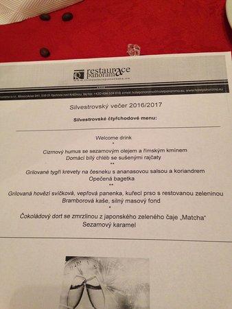 Rychnov nad Kneznou, Czech Republic: Silvestrovské menu