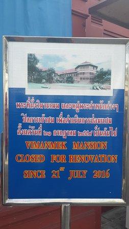 Vimanmek Mansion: Sign at entrance