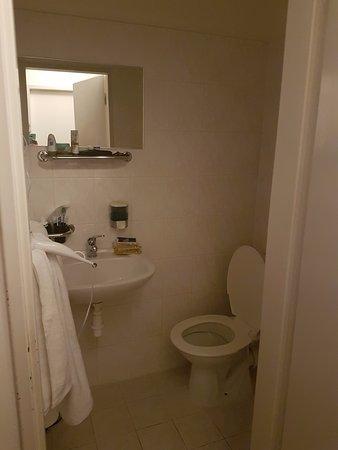 Hotel City Centre: Bagno, senza asciugacapelli. Solo sapone per le mani e carta igienica, nulla di più.