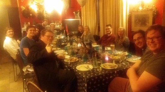 Crewkerne, UK: lovely evening roast meal engagement party oscars wine bar