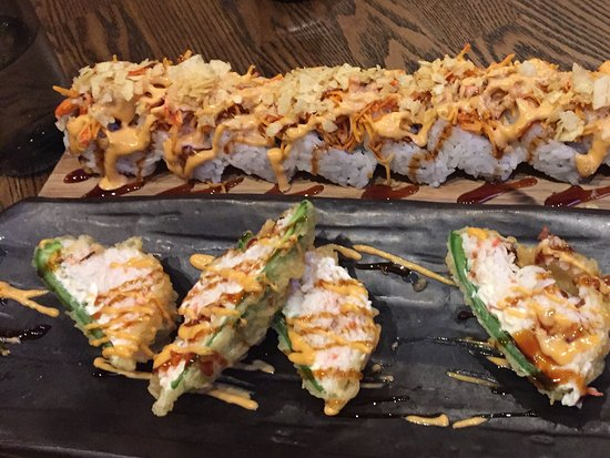 Flowery Branch, GA: Beauty and the Beast roll and Fried Jalapeños