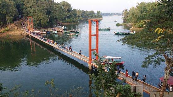 Rangamati Hanging Bridge is located in Chittagong division of Bangladesh.