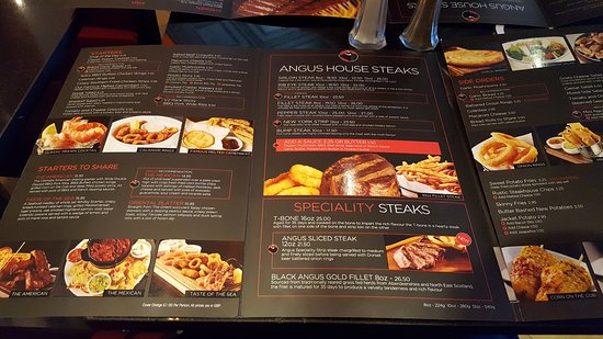 Carte Black Angus.Carte En Anglais Picture Of Angus Steakhouse London