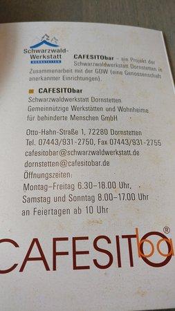 Dornstetten, Allemagne : CAFESITObar