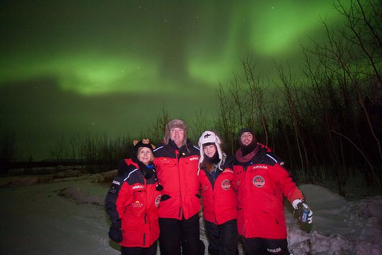 Aurora Borealis & Northern Lights Tours Yukon: Northern Lights with our friends.
