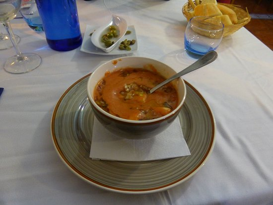 Zuheros, Spain: Geniale kalte Suppe