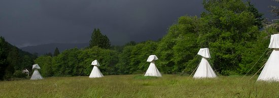 Mineral, WA: Yurt tipis are also available for stays