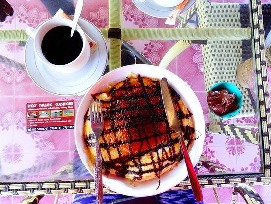 Khammouane, Laos: Pancake with Nutella - yummy!!!