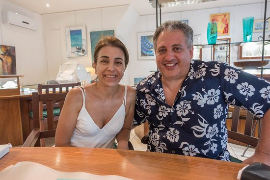 Eva Perles Pearl Buying: Mi esposa y yo en EVA PEARLs, en el paraíso de Moorea
