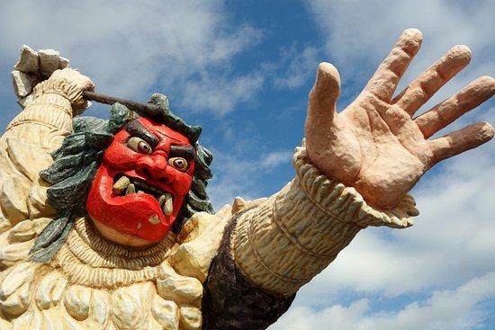 Namahage Statue in Monzen