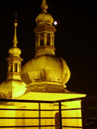 Residence Leon D'Oro: church and moon 2