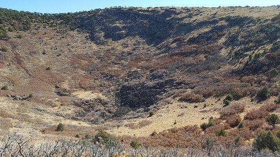 Capulin, Nuevo Mexico: Lava in the crater