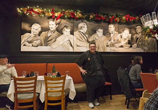 Chef Angelo Standing in front of a Mural - Picture of Kitchen ...
