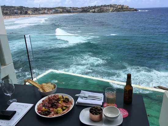 Icebergs Dining Room Bar View Of Bondi Beach From Our Table