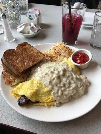 Moses Lake, WA: Steak omelette.