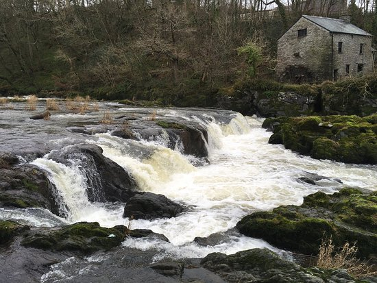 Cenarth Falls and Car Park