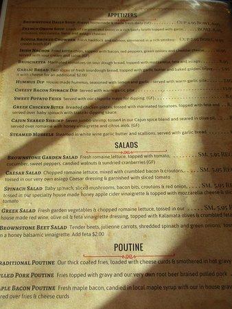 Antigonish, Canadá: Really great menu