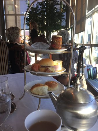 Zoe's Lounge: High Tea tray and Tea Pot. One tray and pot per person.