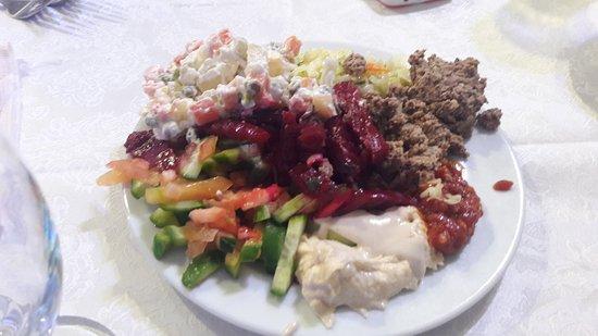 Nazareth Ilit Plaza Hotel : סלטים חדר אוכל