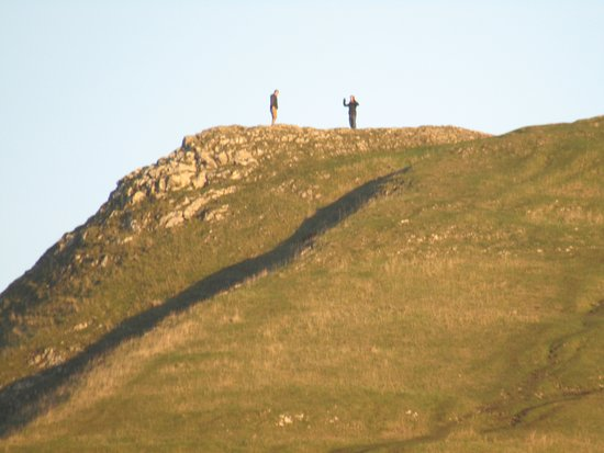 """Ilam, UK: A """"selfie"""" on a neighbouring hill top"""