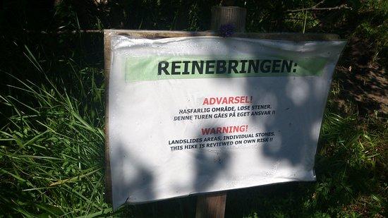 Reine, Norge: avviso di pericolo 01