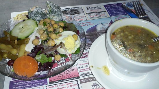 New Berlinville, PA: Italian wedding soup/salad