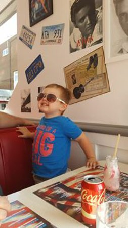Basildon, UK: jack enjoying the music and getting excited for his pancakes