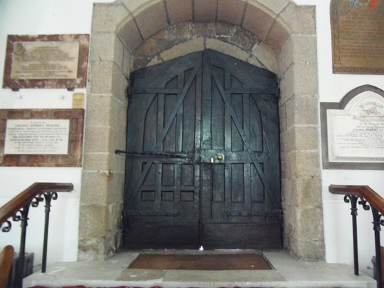 Old Front Doors Of Town Church St Peter Port Guernsey Picture
