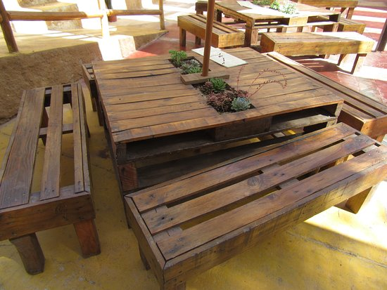 Pallet Furniture On The Shady Patio Picture Of Guayacan Craft