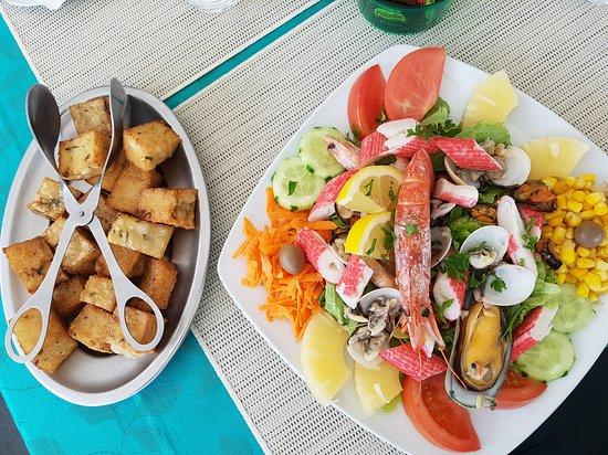 Paul do Mar, Portugalia: Der Sol E Mar-Salat.