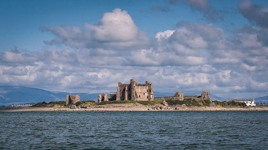 Barrow-in-Furness, UK: View of Piel Castle from the water