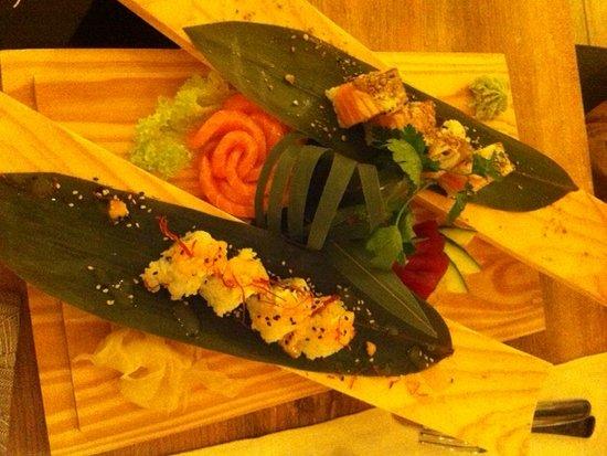 Pantigliate, Italia: sushi e sashimi
