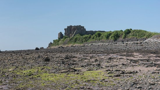 Barrow-in-Furness, UK: Piel Castle - from the beach