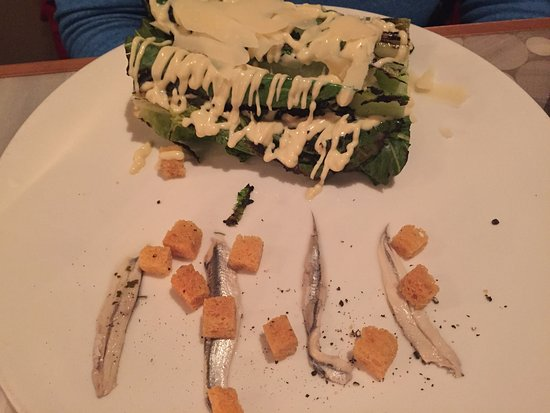 Five Fifty Five : Unusual Caesar's salad presentation.