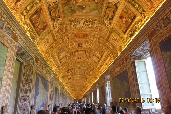 hallway with maps Picture of Vatican Museums Vatican City