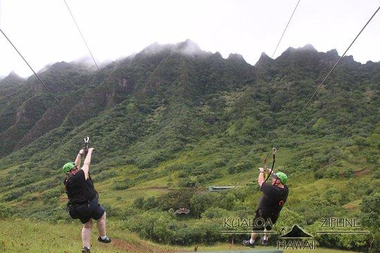 Kaneohe, Hawaje: Ziplining fun